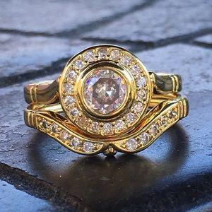 Jewelry - 14k yellow gold ring band set diamond 1 CT wedding